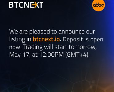 ABBC Coin will be listed on BTCNext exchange.