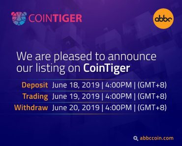 ABBC Coin Listing on CoinTiger