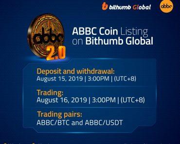 ABBC Coin Listing on Bithumb Global
