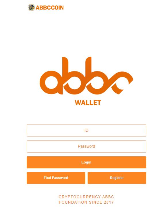 Fake ABBC Wallet website